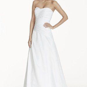 NEW Strapless A-Line Pleated Drop Waist Dress